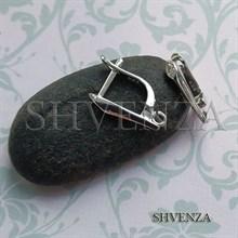 Швензы серебро 925 английский замок 027-002