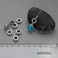 Бусины гематит рамка круглая 10мм 006-058