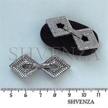 Замочек с фианитами цвет серебро 011-017