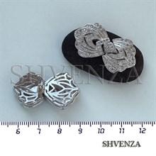 Замочек с фианитами цвет серебро 011-020