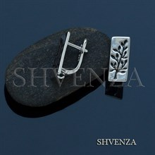Швензы родиевое покрытие цвет серебро английский замок 017-090