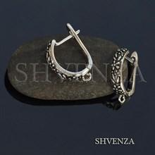 Швензы родиевое покрытие цвет серебро английский замок 017-116