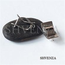 Швензы родиевое покрытие цвет серебро английский замок 017-124