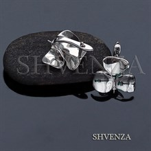 Швензы со штифтом родиевое покрытие английский замок цвет серебро 017-128